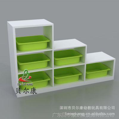 BEK14-BG01白色木制幼儿园储物柜 高低柜