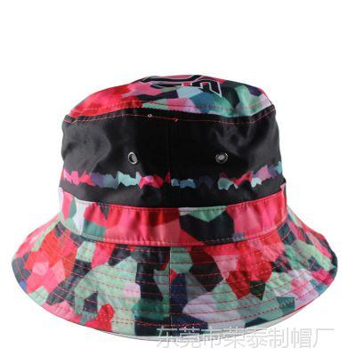 2015新款太阳帽女式成人帽 夏季时尚碎花迷彩盆帽子