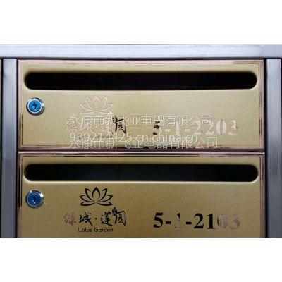杭州绿城莲园住宅小区不锈钢信报箱