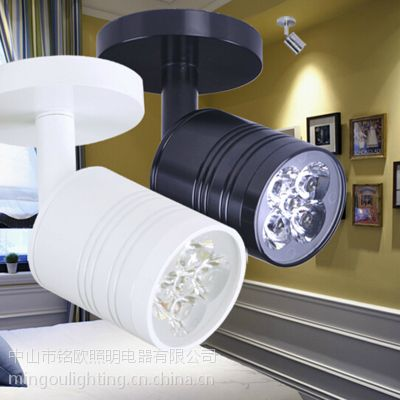 厂家直销 LED橱柜灯 3W明装吸顶照画小射灯 热销灯具灯饰 铝合金