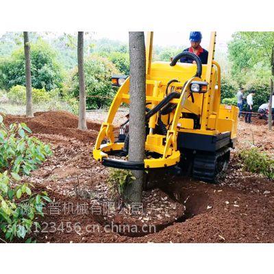 安徽三普挖树机履带式栽树机活树移植挖坑机园林机械厂家