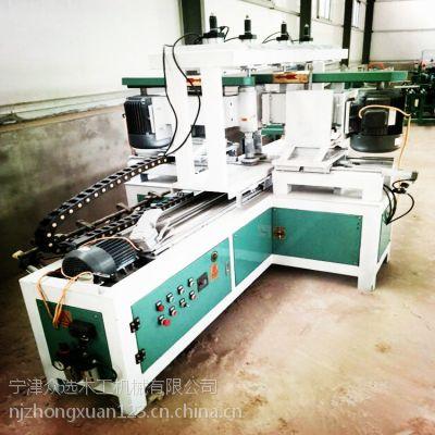 众选机械木工全自动靠模双面仿型铣、圆头双面靠模仿型铣、自动靠模双面仿型铣电脑操作