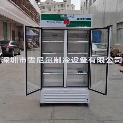 南凌冷柜 立式双门便利店展示柜 LG-518F 饮料/啤酒冷藏展示柜