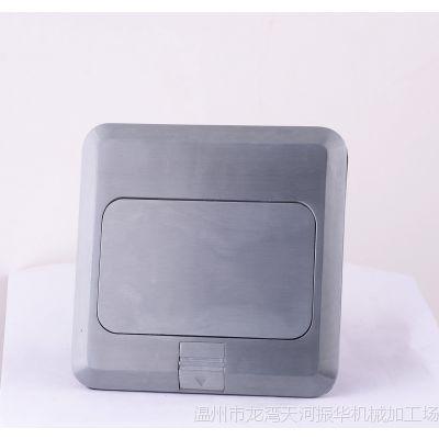 地插厂家直销锌合金电话电脑多功能弹起式地面插座 功能键可安装
