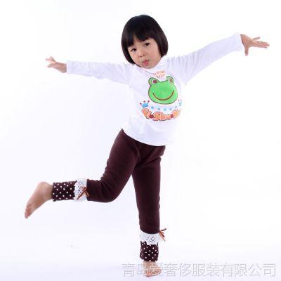 供应【厂家直销】冬新款童装纯棉打底衫儿童卡通印花长袖上衣针织衫