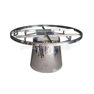 供应加工订制不锈钢火锅圆桌 电磁炉火锅桌 可加印LOGO