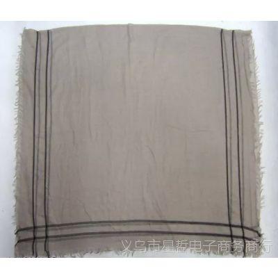 PG2206 秋冬季四边定位梭织大围巾 四边散须男士女士人棉围巾