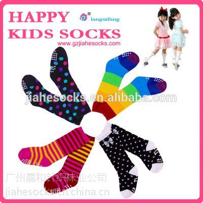 外贸儿童棉袜子厂家,广州婴儿袜加工,防滑提花婴儿袜