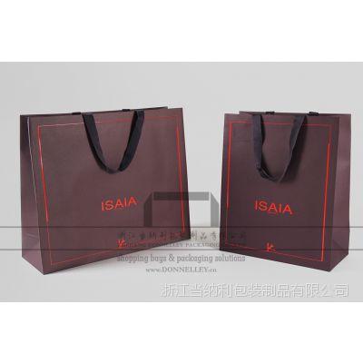 意大利ISAIA西装袋,定制服装手提袋,高级成衣服装礼品袋,杭州高档纸袋厂家