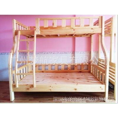 供应广州实木家具床厂芬兰松木简约现代双层子母床上下床儿童床实木床