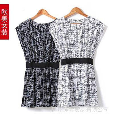 供应2014 韩国女装代理神剧来自星星的你同款花纹大码女装韩版连衣裙