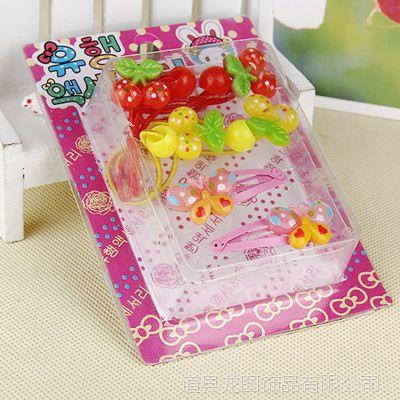 diy儿童戒指 百款混装儿童BB发夹diy树脂配件百搭环保PVC混款盒装