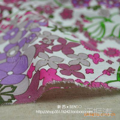 新苏DIY手工拼布料 外贸布料 优质棉麻布料 家纺布料