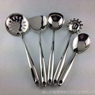 厂家直销 高档不锈钢连体空心柄厨具 布轮光厨具套件
