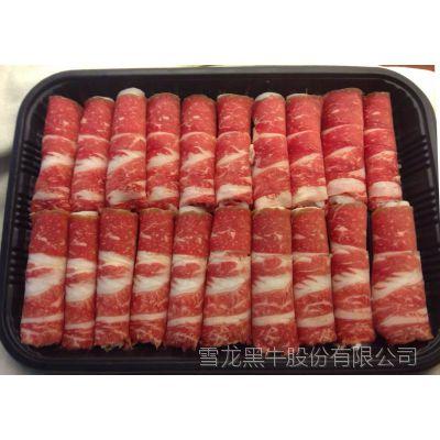 雪龙黑牛厂家直供上等肥牛3.5kg左右单块大中型餐饮店食材