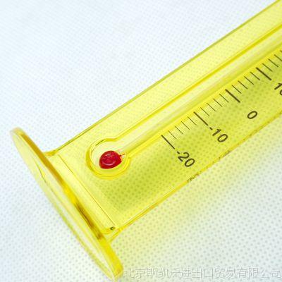 日本进口温度计 小熊温度计台式温度计酒精室内温度计