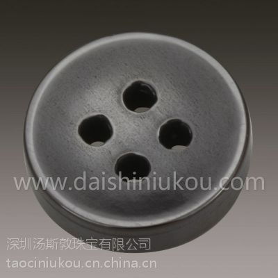 黑色黛石陶瓷纽扣可用于衬衫大衣西装纽扣 可来样定制