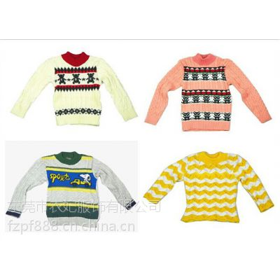 尾货处理 中小童毛衣秋冬款 长袖杂款童装毛衣 库存低价毛衣批发