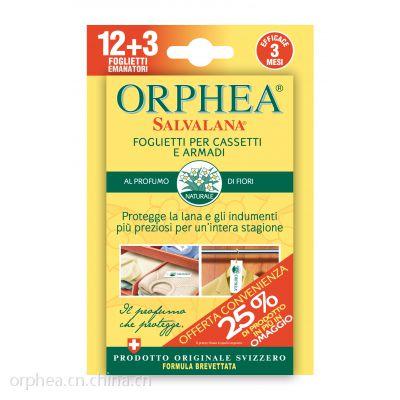 ORPHEA/奥菲雅天然清香衣物防蛀收纳柜衣柜家纺香片 瑞士进口 替代樟脑丸