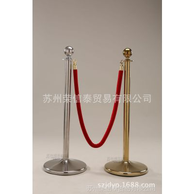 精品特价不锈钢栏杆座 红色1.5米绒布绳