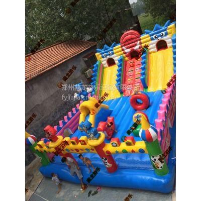 小区公园户外卡通儿童玩具城堡 鲨鱼海底世界蹦床 120平充气滑梯款式