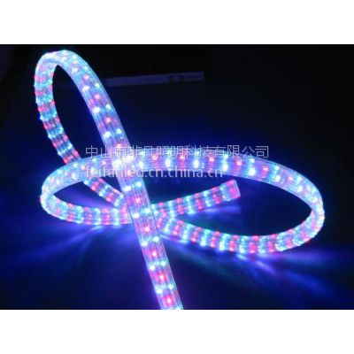 全铜线LED灯带扁三线-铜线防水LED扁三线灯带|220V高压LED灯带