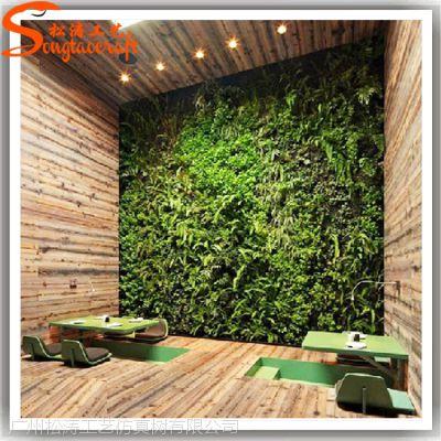 室内装饰人造植物 仿真草墙 可定制造型植物墙