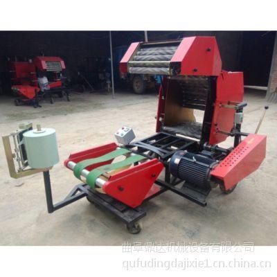 牧草打捆包模一体机 自动青贮打捆包膜机 鼎达牌高效便捷