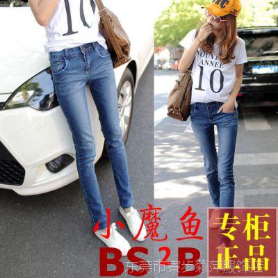 批发一件代发女装 春夏韩版显瘦弹力女士小脚牛仔裤铅笔裤