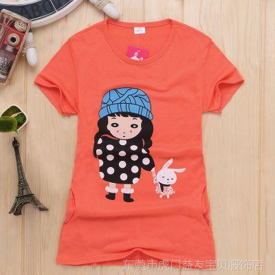 女童T恤2015夏季新款薄款短袖打底衫 女童大童精品韩版童装上衣