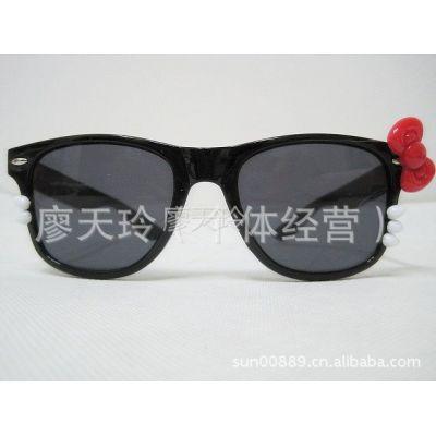供应ayomi kaki秀hello  kitty造型蝴蝶 结猫咪眼镜 米钉墨镜  太阳镜
