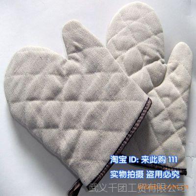 千团精工 烘培 专用 高温手套 隔热手套 烤炉烤箱用手套 (双)