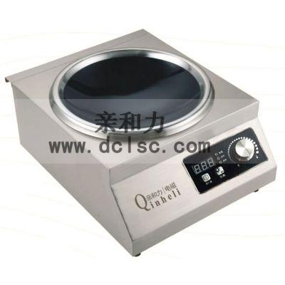 咸阳电磁台式凹面小炒炉厂家 亲和力 厨房设备 QHL-TAL3.5X 节能灶