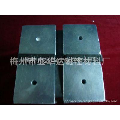 供应50*50*25 中孔D6 N35 镀锌 钕铁硼方块