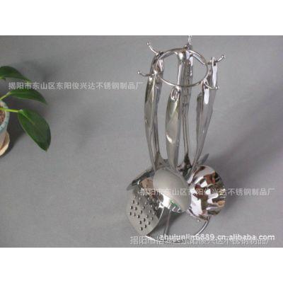 厂家供应不锈钢烹饪铲套装 陶瓷柄厨具