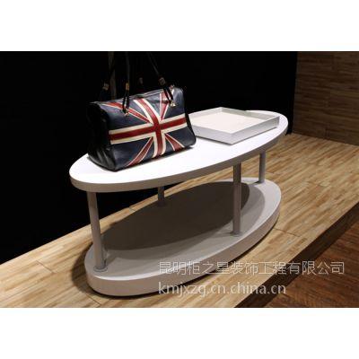 定制精品展示架陈列柜组合柜流水台高低展台优质密度板简约现代