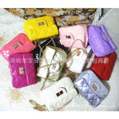 儿童包包公主斜挎包韩版时尚女童包小香风迷你菱格链条包厂家批发
