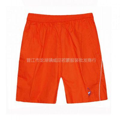 供应夏季新款纯色宽松沙滩裤 男士三分沙滩裤 韩版男短裤V-281