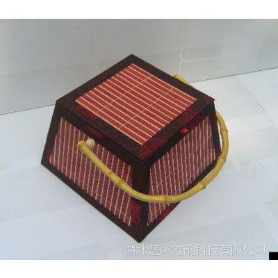 安吉竹制粽子礼盒竹篮编织创意茶叶月饼水果年货土特产包装批发