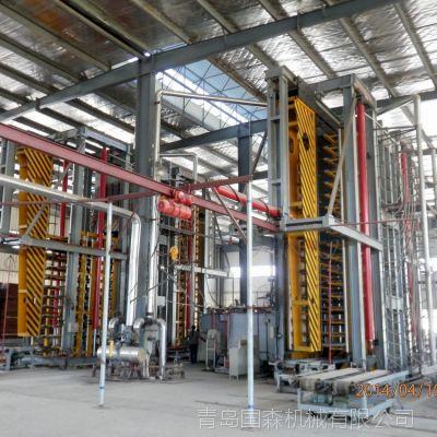 供应青岛国森机械制造的竹编席压制竹胶板成套加工设备生产线