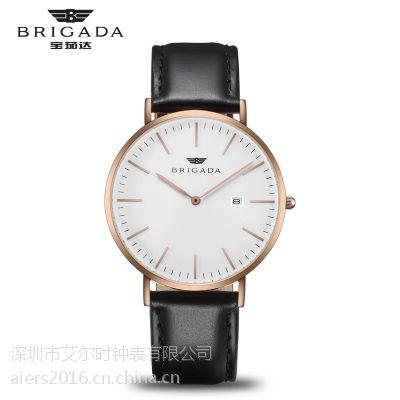 厂家供应艾尔时定制礼品促销表男士DW手表学生情侣表儿童手表OEM代工