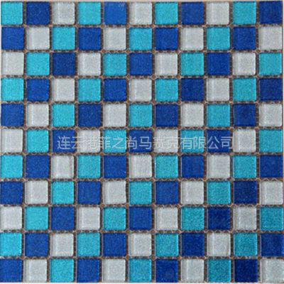 供应 时尚马赛克 菲之尚 蓝色混拼水晶