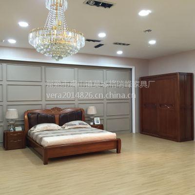 江苏美希恩金丝伯爵系列卧室家具现代简约 金丝木原木环保家具 厂家直销