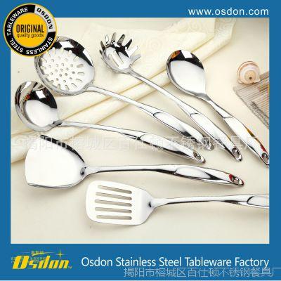 空心柄不锈钢厨具 S形 厨房必备勺铲 揭阳厂家直销 超值厨具7件套