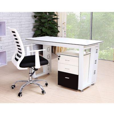 四人广州办公家具梯形钢架职员办公桌4人位员工桌组合屏风工作位