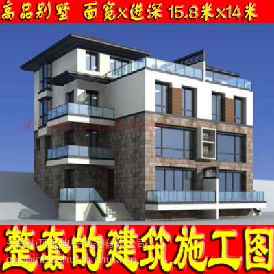 [江苏]某小区二层双拼新古典风格建筑施工图(东入口)