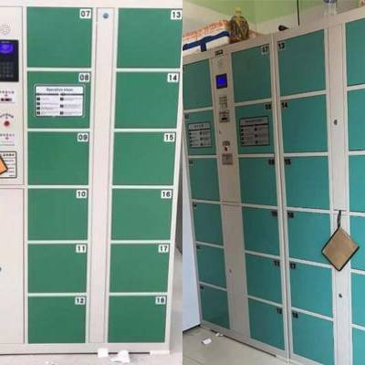 淮阴4*6箱超市寄存柜,24门电子存包柜条码柜低价出售@锦福祥