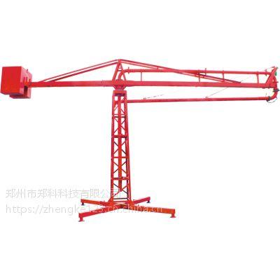 江苏溧阳郑科十八米回转折叠式楼面散料设备