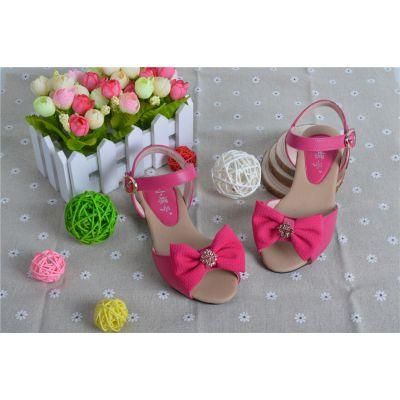 供应夏季新款女童凉鞋韩国甜美蝴蝶结女童鞋公主凉鞋儿童凉鞋一件代发