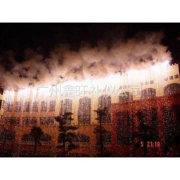 供应广州鑫旺舞台特效冷焰火舞台喷泉婚庆烛银花室外瀑布日景彩烟庆典彩烟